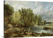 The Young Waltonians - Stratford Mill, c.1819-25 (oil on canvas)