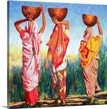 Three Women, 1993 (oil on canvas)