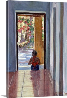 Through the Doorway, 2005 (oil on canvas)