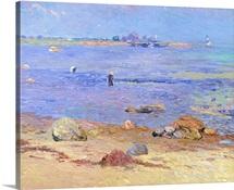 Treading Clams, Wickford (oil on canvas)