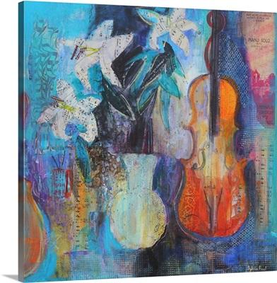 Trio 2014 acrylic/ paper collage