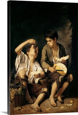 Two Children Eating a Melon and Grapes, 1645-46