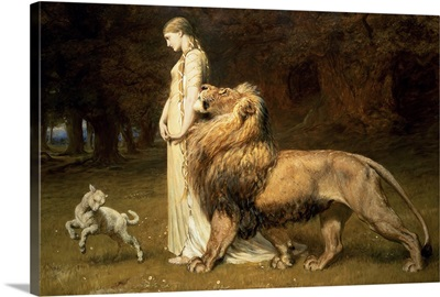 Una and the Lion, from Spenser's Faerie Queene, 1880
