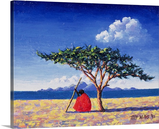 Under the Acacia Tree, 1991 (oil on board)