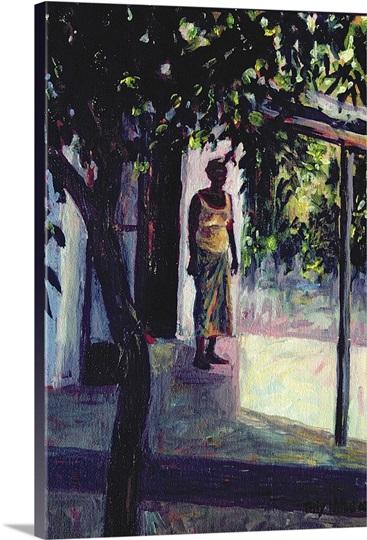 Under the Verandah, 2002 (oil on canvas)