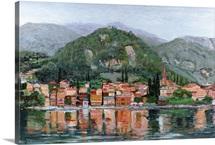 Varenna, Lake Como, Italy, 2004 (oil on canvas)