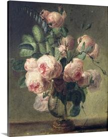 Vase of Flowers (oil on canvas)