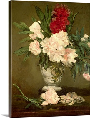 Vase of Peonies on a Small Pedestal, 1864