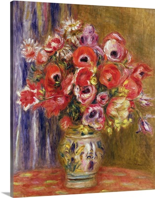 Vase of Tulips and Anemones, c.1895