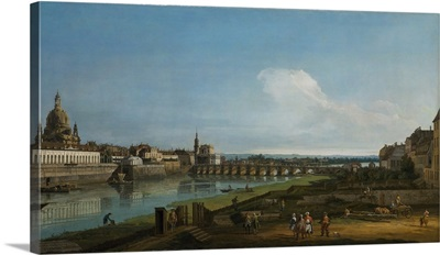 View Of Dresden With The Frauenkirche At Left, 1747