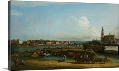 View Of Dresden With The Hofkirche At Right, 1748