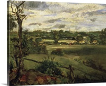 View of Highgate from Hampstead Heath, c.1834 (oil on cardboard)