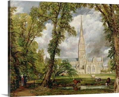 View of Salisbury Cathedral from the Bishop's Grounds,