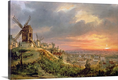 View of the Butte Montmartre, c.1830
