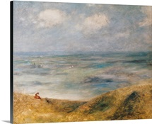 View of the Sea, Guernsey (oil on canvas)