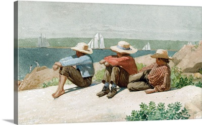 Watching the Ships, Gloucester, 1875