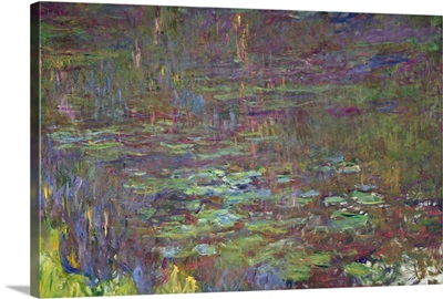 Waterlilies at Sunset, detail from the right hand side, 1915 26