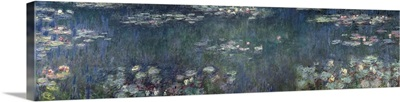 Waterlilies: Green Reflections, 1914 18 (left and right section)