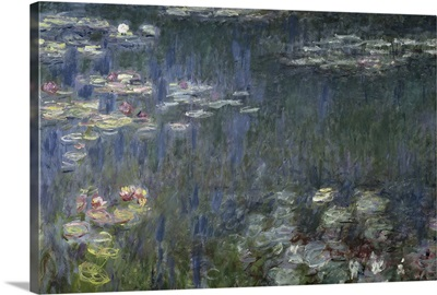 Waterlilies: Green Reflections, 1914 18 (left section)