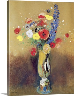 Wild flowers in a Long necked Vase, c.1912