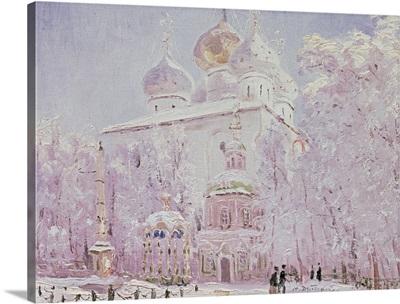 Winter in the Trinity St. Sergius Lavra in Sergiyev Posad, c.1910