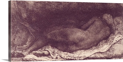 Woman Lying on a Bed, 1658