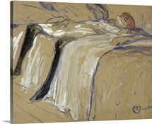 Woman lying on her Back Lassitude, study for Elles, 1896 (oil on cardboard)