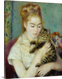 Woman with a Cat, c.1875