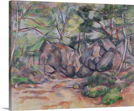 Woodland with Boulders, 1893 (oil on canvas)