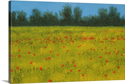 Yellow Field with Poppies, 2002