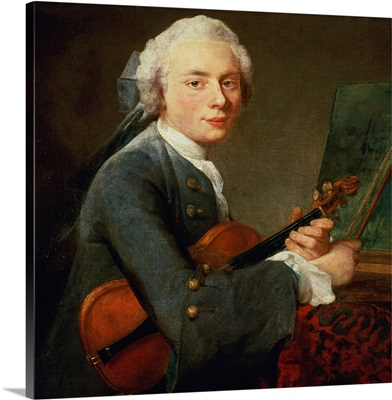 Young Man with a Violin, or Portrait of Charles Theodose Godefroy