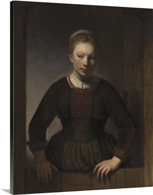 Young Woman at an Open Half-Door, 1645