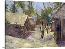 Zanzibar Village, 2001 (mixed media)