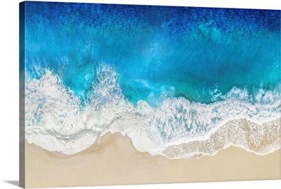 Aqua Ocean Waves From Above