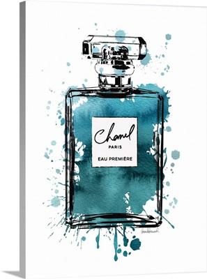 Black Inky Perfume in Teal