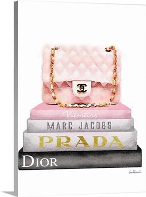 Book Stack Pink Bag