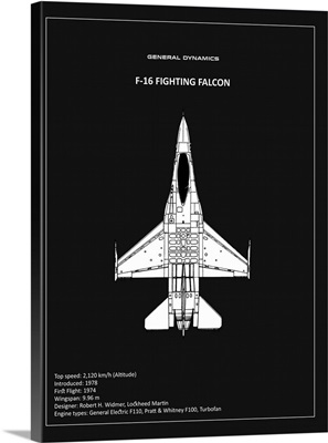BP F-16 Fighting Falcon Black