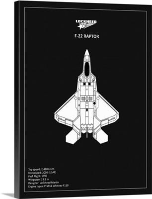 BP Lockheed F22 Raptor Black