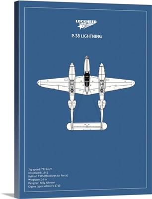 BP Lockheed P38 Lightning