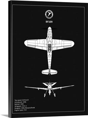 BP Messerschmitt ME 109 Black