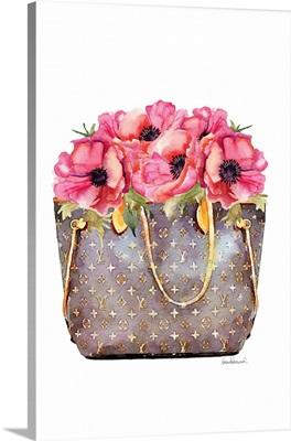 Fashion Bag With Peonies
