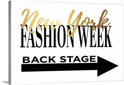 Fashion Week New York Gold