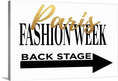 Fashion Week Paris Gold