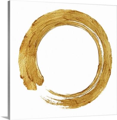 Gold Zen Circle on White I
