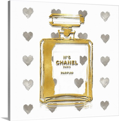 Perfume with Silver Hearts