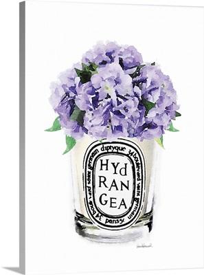 Purple Hydrangea Candle