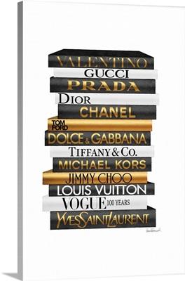 Tall Golden Bookstack