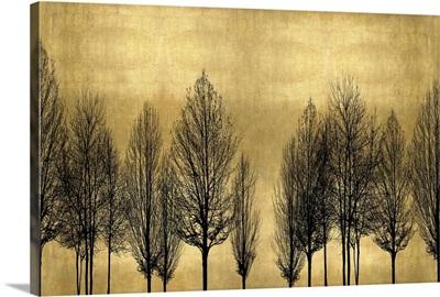 Tree Line on Gold