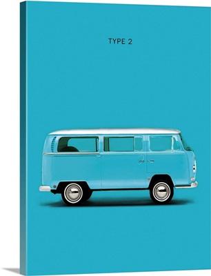 VW Type 2 Sky Blue