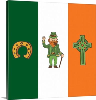 St. Patrick's Day Flag I - Square